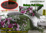 Sprei bahan full katun kode Green Forest