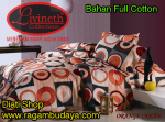 Sprei full cotton (orange cream)