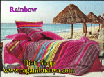 Sprei full katun rainbow
