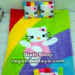 Karpet bulu tebal hello kitty
