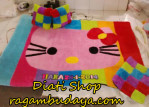 Karpet bulu hello kitty set